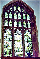 The East Window showing Christ alive on the cross
