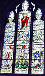 The south window commemorating Randall Mason