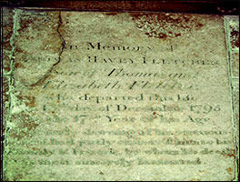 Floor Stone Memorial to Thomas Havey Fletcher