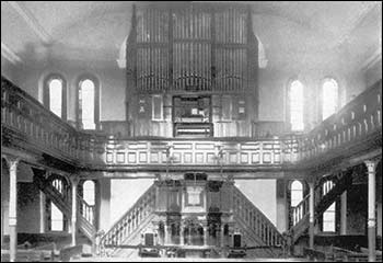 An old photograph showing the interior