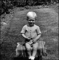 Picture of Alan Iliffe aged 2 years, taken in 1947.