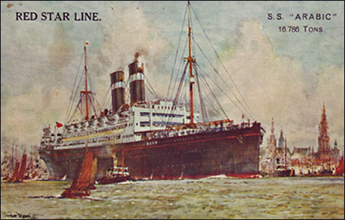 Photograph of the ship that brought Eileen and her parents home