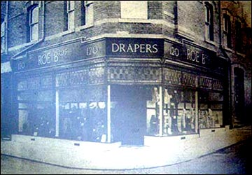 Roe Bros. drapers shop.