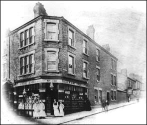Battersby's Grocery Shop stood at the bottom of Queen Street