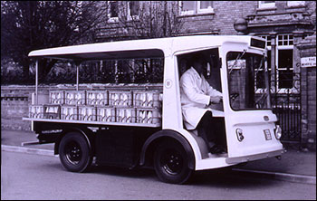 Delivery was by an electric float in the 1960s