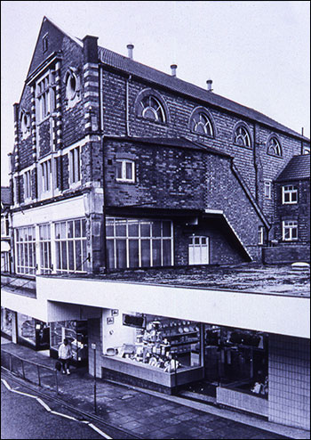 The old hall and new store on the site of the Succoth Church
