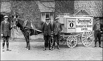 The new milk float when  bottles were first introduced