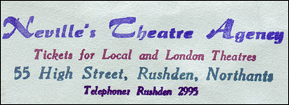 Theatre Booking agency envelope