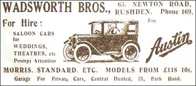 Wadsworth's advert 1932
