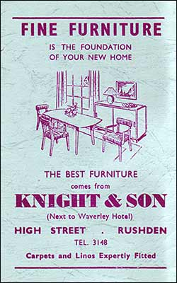 Advert for Knight & Son