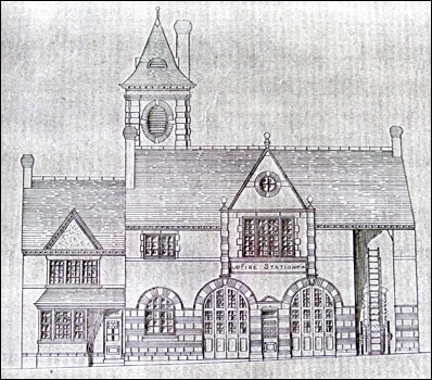 The fire station was designed by Mr W Madin