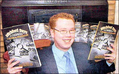 Jon-Paul Carr with copies of Ditchford Days