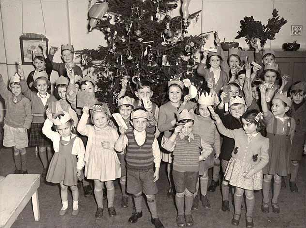 Alfred Street Infant School Christmas 1951