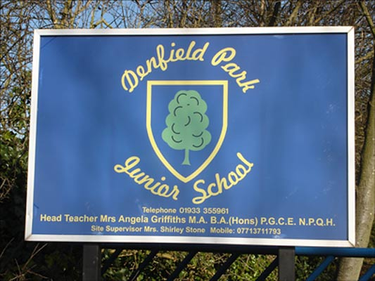 Photo of Denfield School Sign
