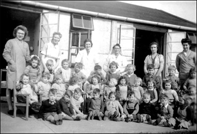 Tennyson Road Nursery class in 1944