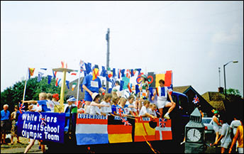 Pictures of the Whitefriars Infant School carnival float 1992