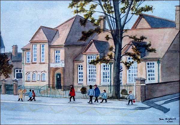 A painting of the school 2001