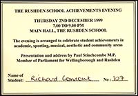 Ticket for Achievements Evening