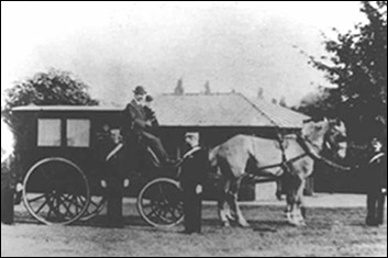 Horse drawn ambulance in the 1890's