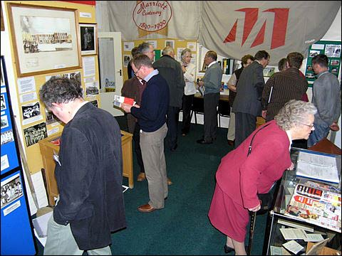 Guests looking at the museum exhibition
