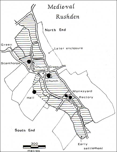 Map of Medieval Rushden