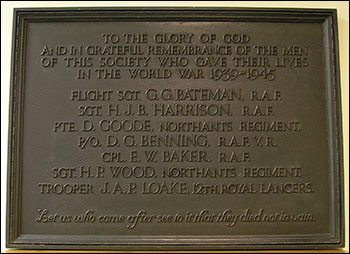 Plaque for the Co-op Men