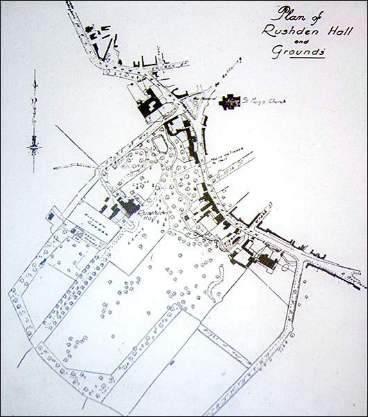 Plan showing the extent of the grounds