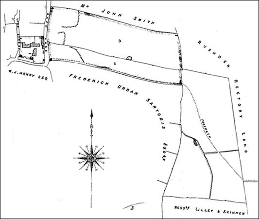 Plan of the area in 1885
