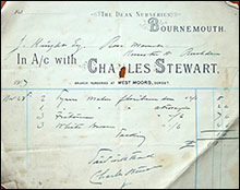 Invoice from Charkes Stewart