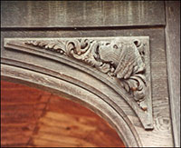 Detail of some of the animal carvings