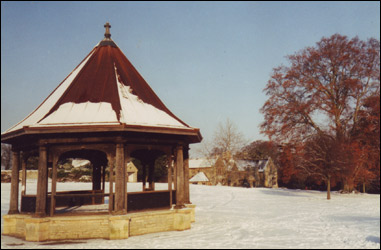 About 1988 - the bandstand in the snow