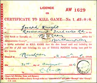 licence 1916