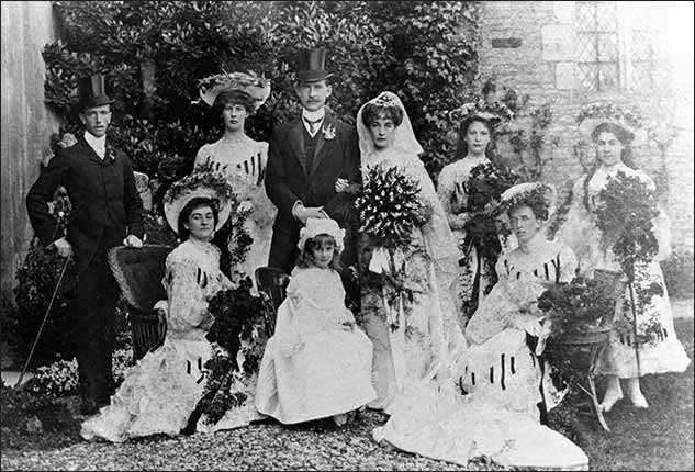 Wedding photo of James Browning & Lilian Fisher