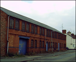 Chapman's factory today showing the wide pavement where Doris leanrt to dance