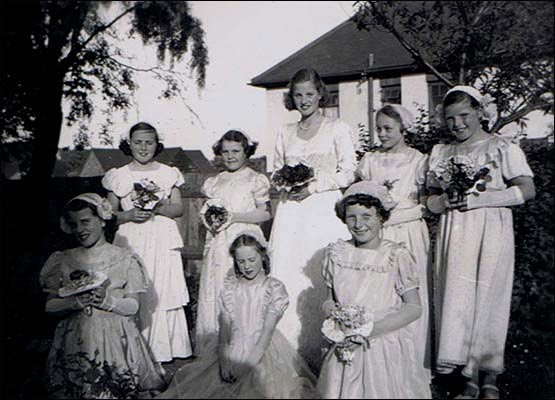May Queen with her attendants c.1952/3