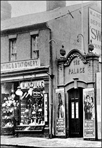 Photograph showing the entrance to the Palace Cinema in the High Street