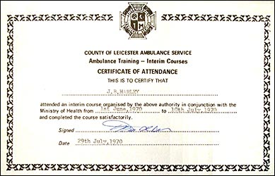 1970 Training Course