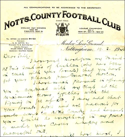 Notts County letter