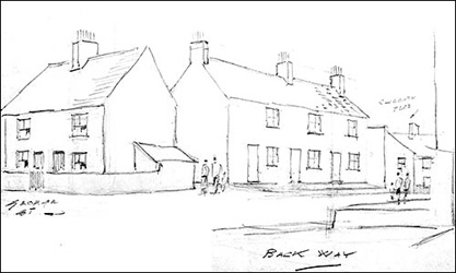 sketch of the cottages