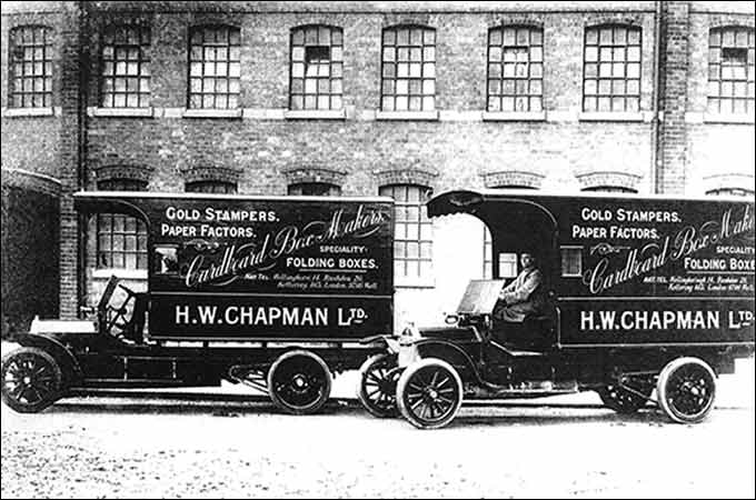 Photo of vans in the late 1920s