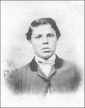 George Warner as a young man
