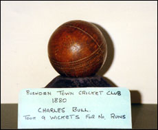 The cricket ball used in 1880