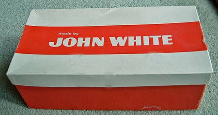 Picture of a John White shoe box
