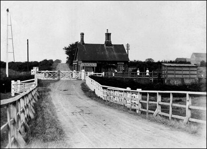 Ditchford Station in about 1920
