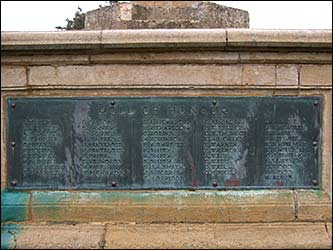 A panel of the Roll of Honour