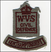 Insignia from a WVS uniform