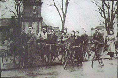 Youth Service Corps cyclists