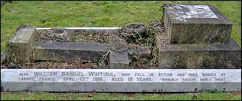 The family grave at Rushden Cemetery