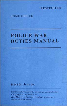 Manual issued to the Special Constables